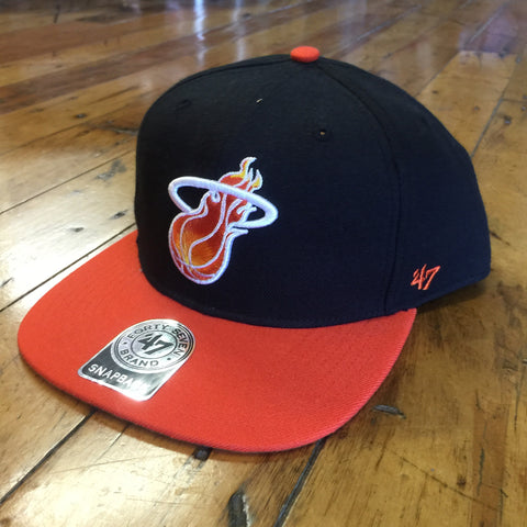 8a8400495fc83e '47 Brand Miami Heat Sure Shot SnapBack. '