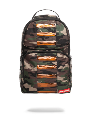 SprayGround CAMO led Bag to the Future bookbag