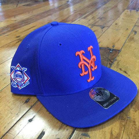 f5f9ab657f1d1a 47 Brand New York Mets Sure Shot SnapBack – Allstar Apparel