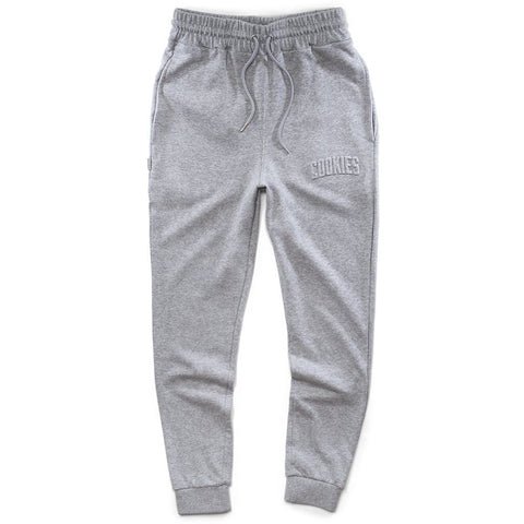 Cookies Crop Duster French sweat pants Embossed Logo Gray