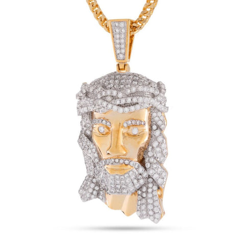 "King Ice Fox ""Empire"" Jesus Piece Necklace"