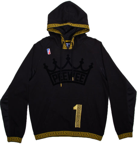 POST GAME PEE WEE CROWN PULL OVER HOODED SWEATSHIRT BLACK