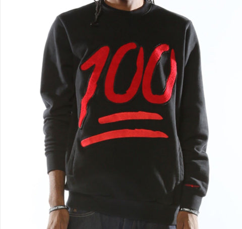 ️Fly Supply 100 Black Crewneck