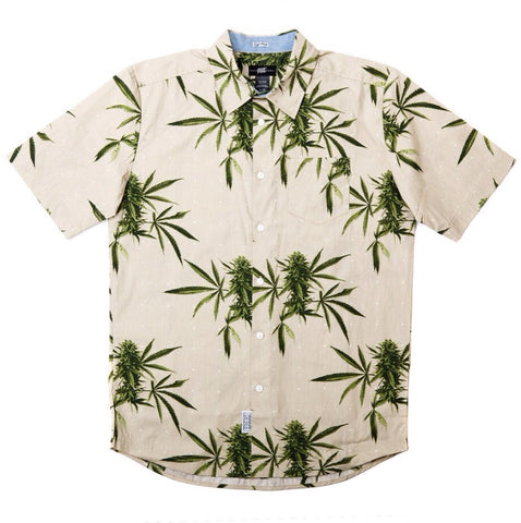 Summer Harvest S/S Button Up in Khaki