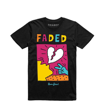 Reason Clothing Faded Love T-shirt(Black)