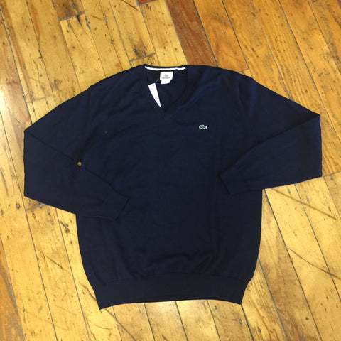 Lacoste Blue V-Neck Sweater