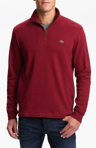 Lacoste Bordeaux Half Zip Sweater