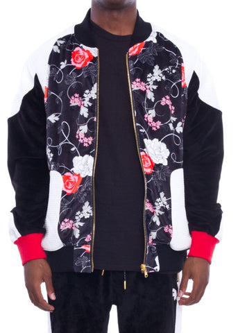 Frost Originals Rose Noir Bomber Jacket Black