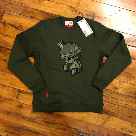 Red Tag Military Teddy Sweatshirt