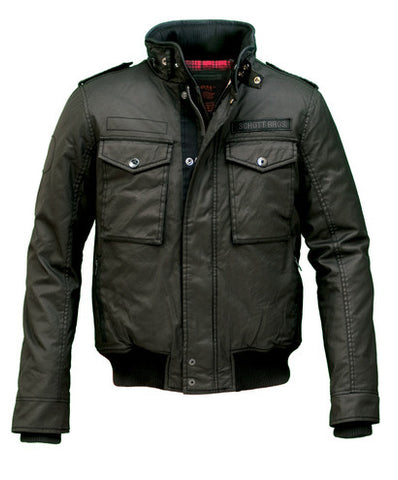 Schott Waxed Security Jacket (Black)