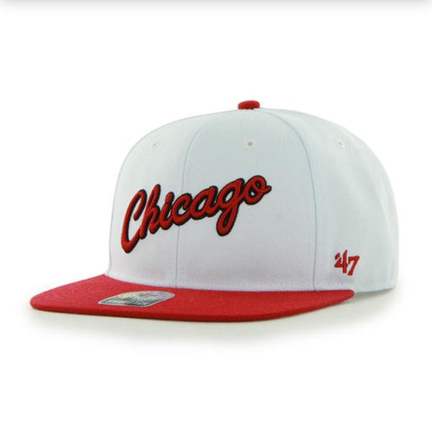 10bae6b376a  47 BRAND CHICAGO BULLS SURE SHOT SNAPBACK.