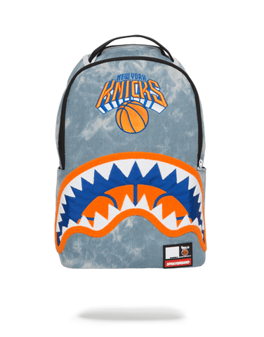 SprayGround NBA Lab Knicks Denim Shark bookbag