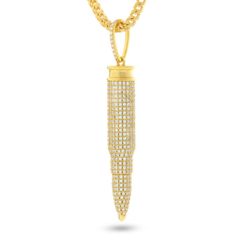 King Ice .223 Calilber Bullet Necklace