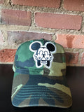 Middle Finger Mickey Dad Caps