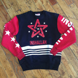Inshallah Black and Red  Crewneck