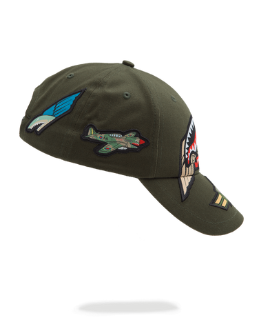 SprayGround Shark Army Patch Dad Hat – Allstar Apparel 0b516f0c677