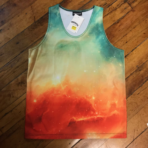 Underated galaxy tank top yellow