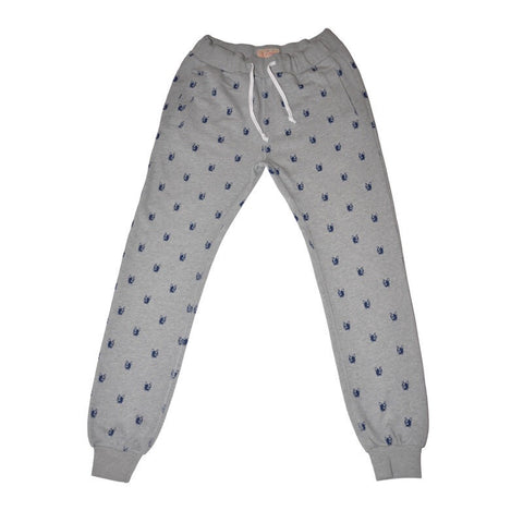 Hawke and Dumar Dog Head Stitch Joggers