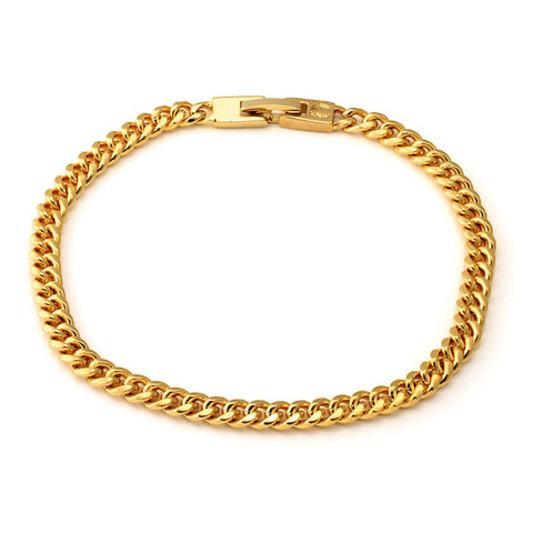 Gold mini Cuban link bracelet