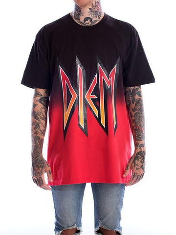 DEF DIEM TEE IN BLACK AND RED