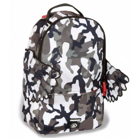 SPRAYGROUND THE BLACK PYRAMID CB GRAY CAMO WINGS BACKPACK