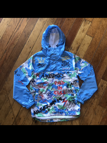 Rebel Mind Graffiti Windbreaker