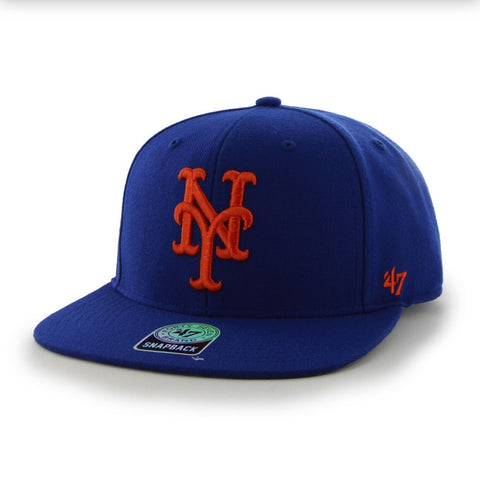 c21d9519cfd6e8 47 BRAND NEW YORK METS SURE SHOT SNAPBACK – Allstar Apparel