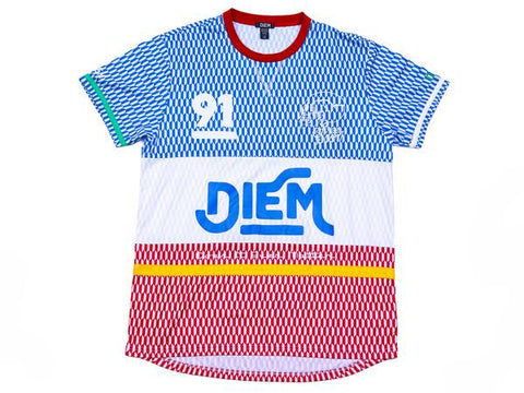 DIEM RACER JERSEY TOP IN BLUE/RED
