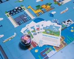 Sphero BOLT and code map paired with activity cards image.