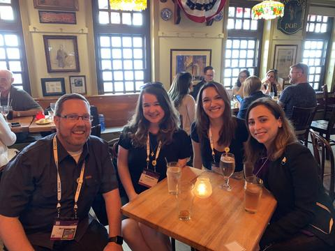 Group of littleBits team at ISTE enjoying break together.