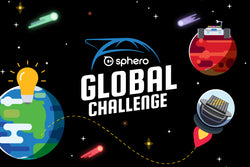 Sphero Global Challenge logo with space background.