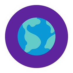 Graphic of Earth globe.