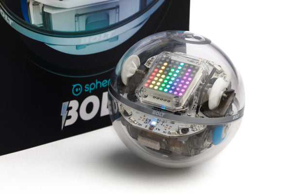 The Sphero BOLT programmable robot ball with LED matrix.