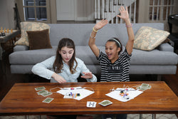 Two girls working together on Technology Expansion Pack.