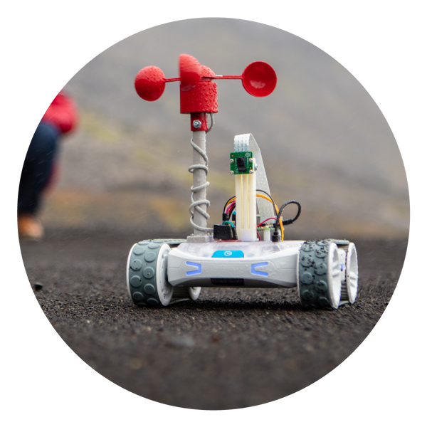 RVR robot with anemometer science activity.