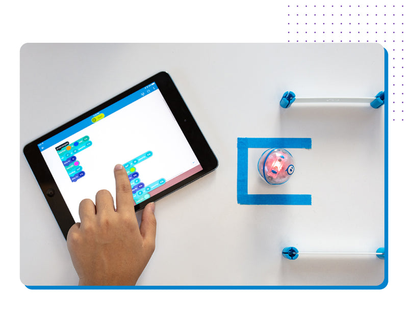 Hand coding Sphero mini STEAM Robot on ipad
