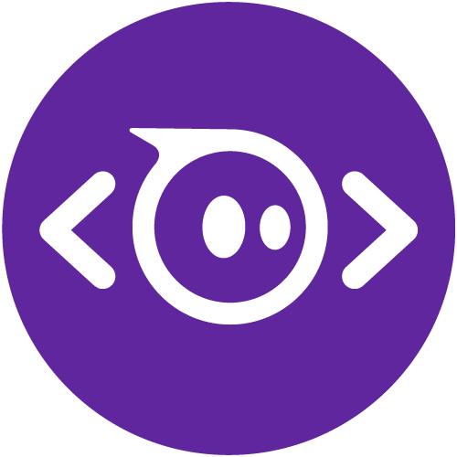 Coding symbol icon on purple background.
