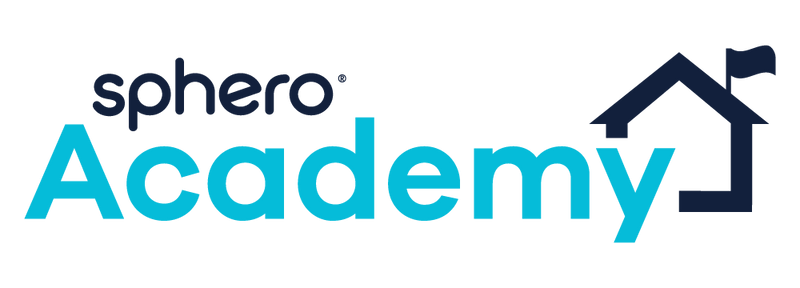 Sphero Academy logo with school house and flag.