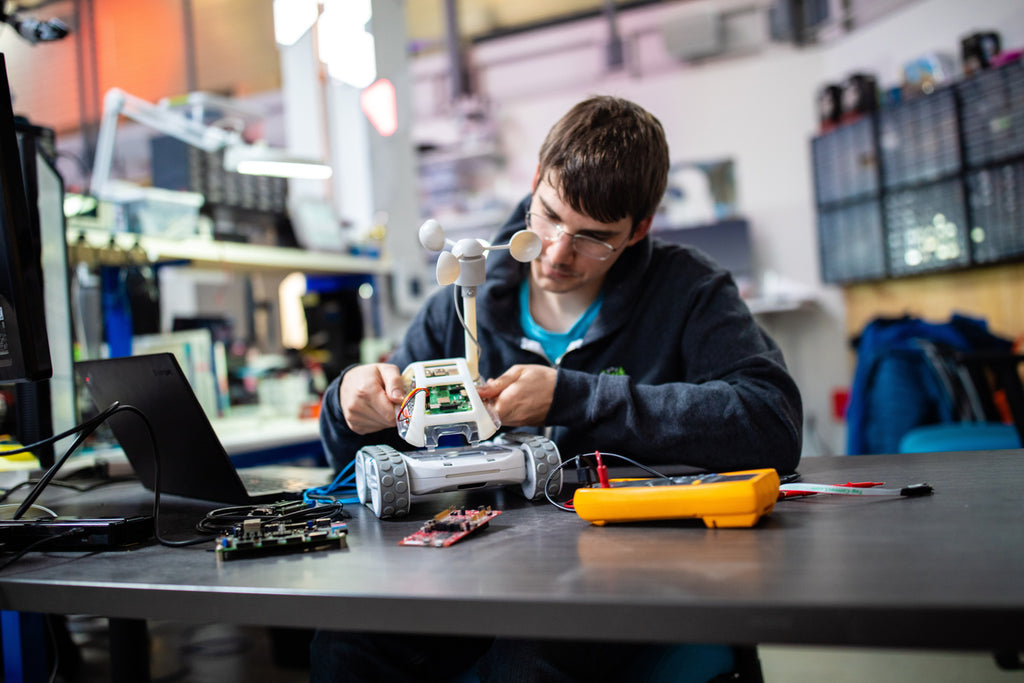 An engineering student builds a custom robot with Sphero RVR for National Robotics Week.