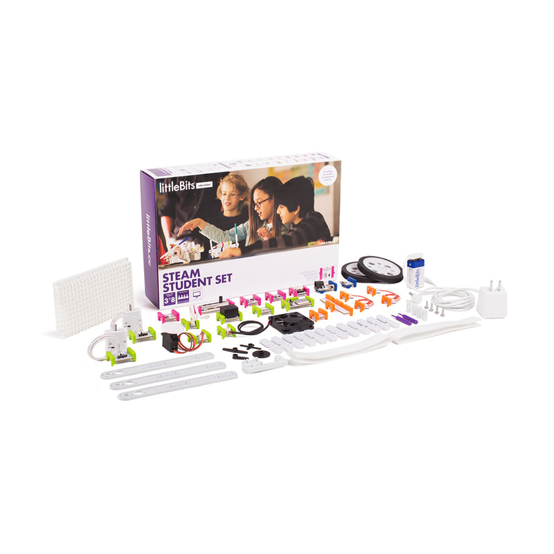 littleBits STEAM Student Set product and packaging.