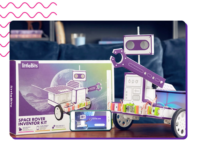 littleBits Space Rover package and invention.