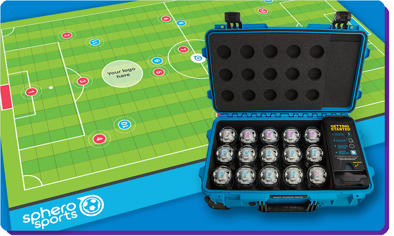 A Sphero Sports mat and a BOLT power pack.