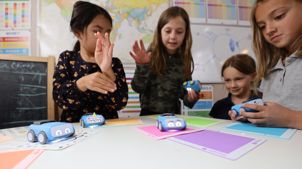 Early education students enjoy back to school activities with Sphero indi.