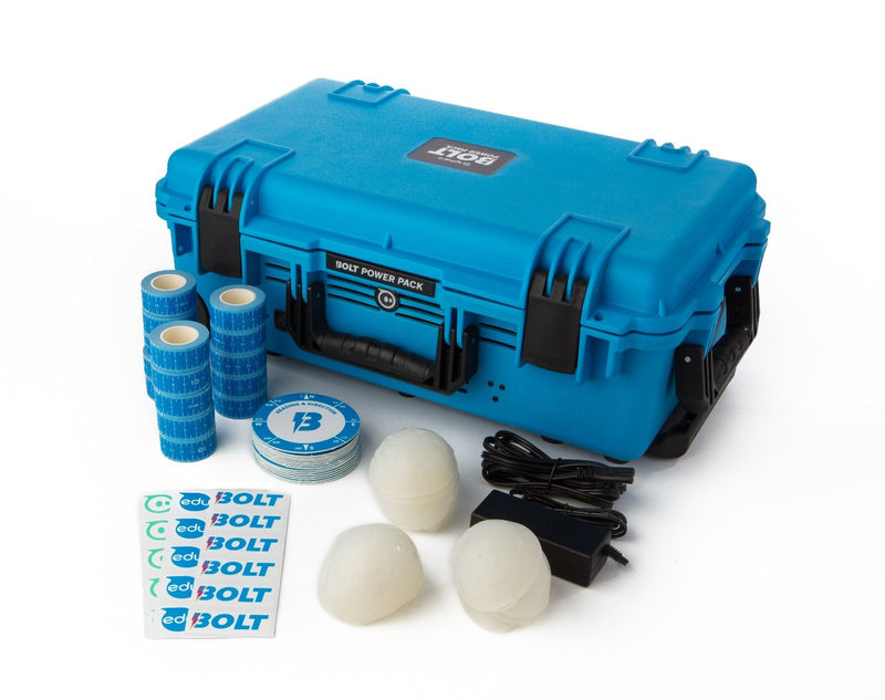 BOLT Power Pack case and additional products included in the BOLT Power Pack.