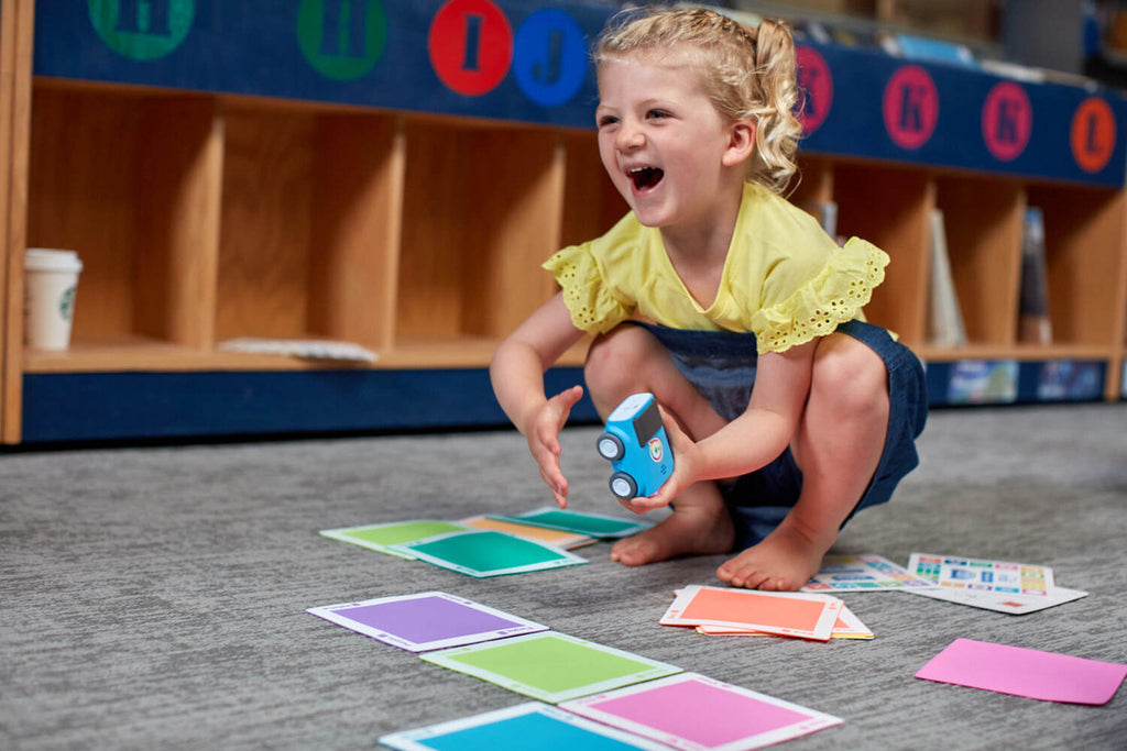 Kids as young as four years old can learn STEAM with Sphero indi, a screenless learning robot.
