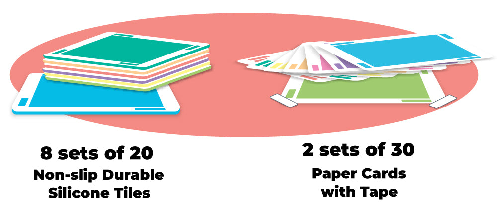 8 sets of 20 Non-slip Durable Silicone Cards