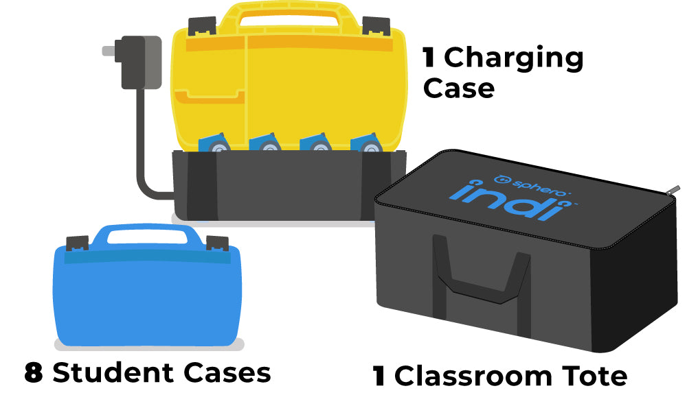 8 Student Cases, 1 Charging Case, 1 Tote Bag