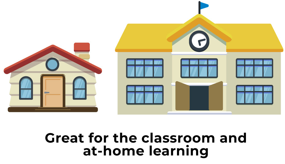 School and Home Illustration