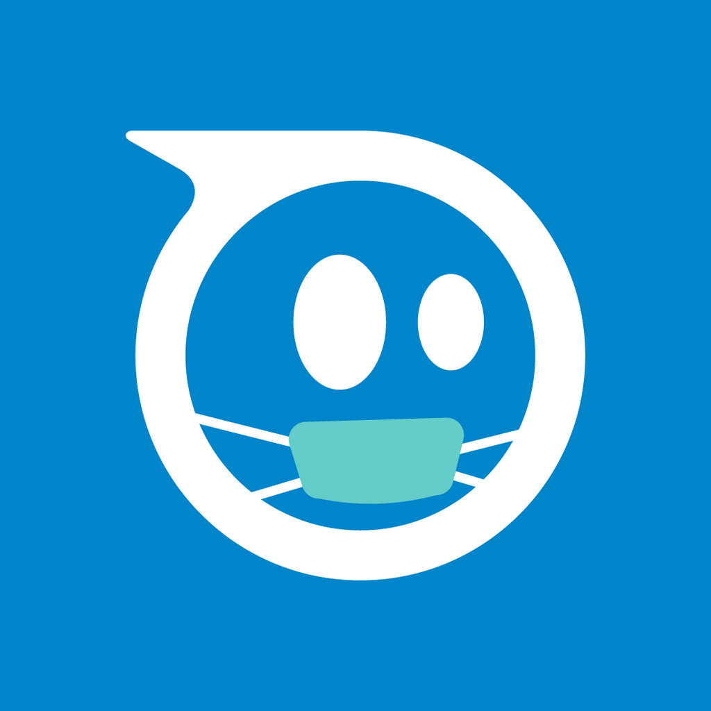 Sphero logo wearing a teal colored mask.