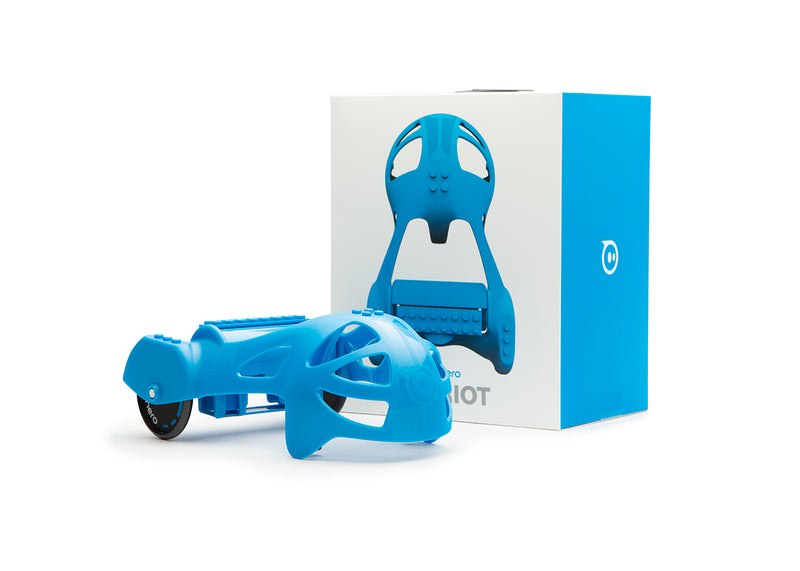 Blue Sphero Chariot packaging and product.